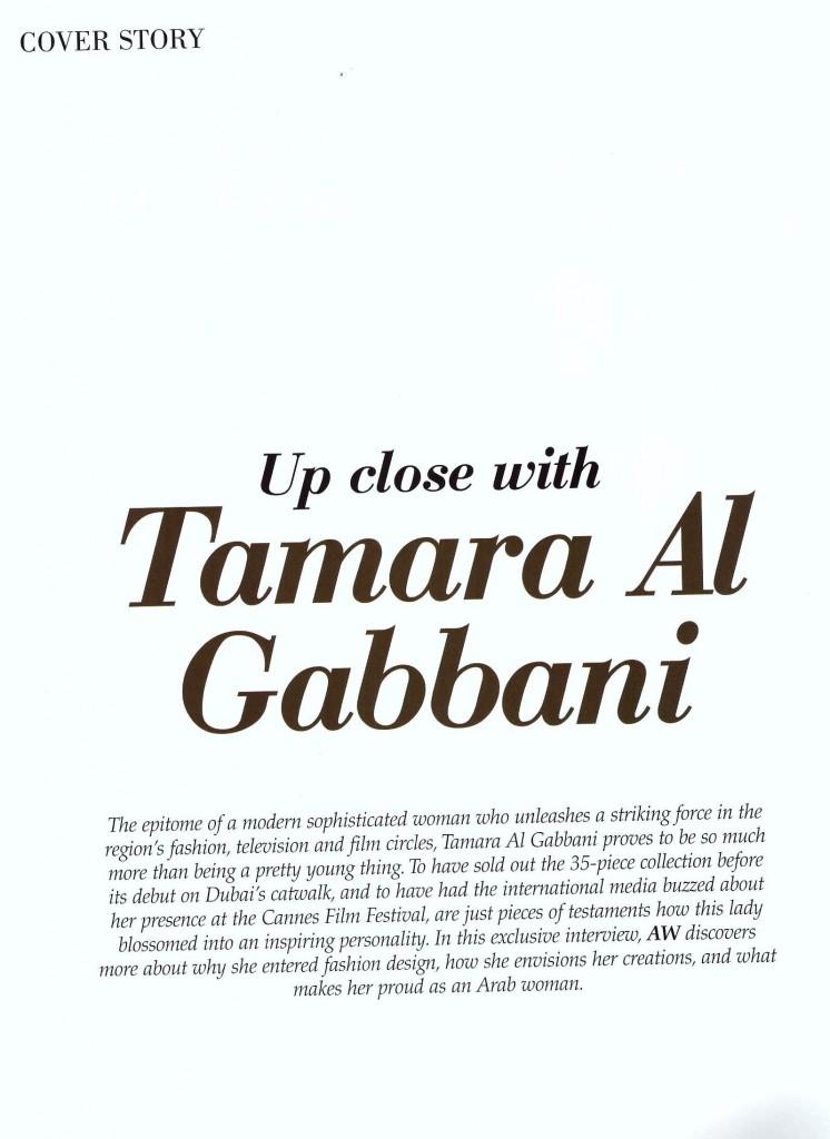 Tamaraah Cover Story