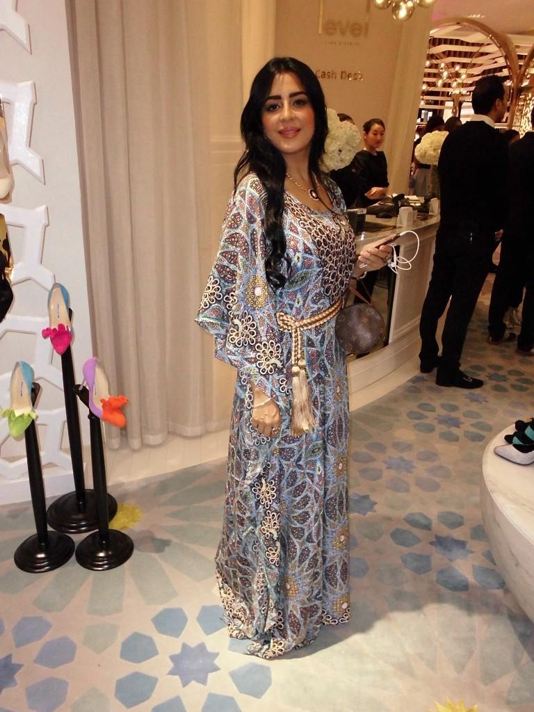 Lulu wearing Tamara Al Gabbani Collection jalabiya!