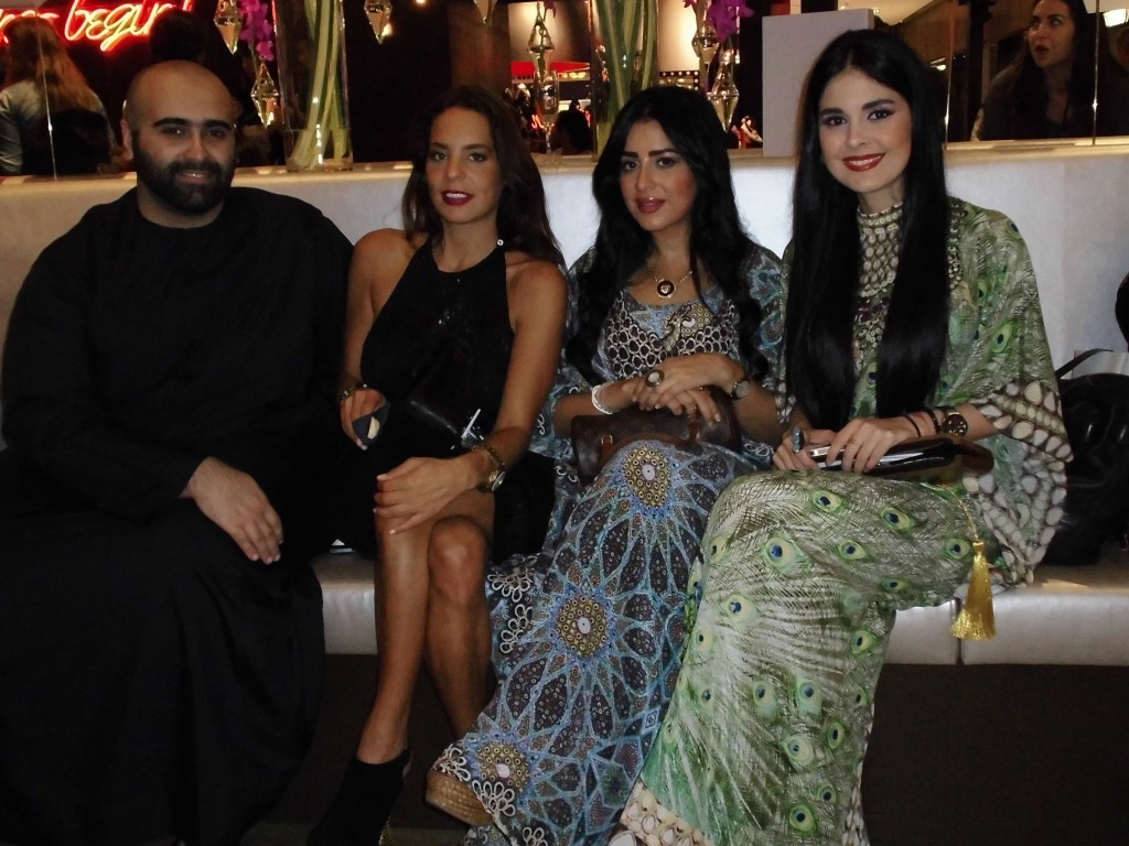Saeed Khalifa, Tamara, Lulu & myself at Level Shoe District enjoying a sit down after an evening of rushing about!