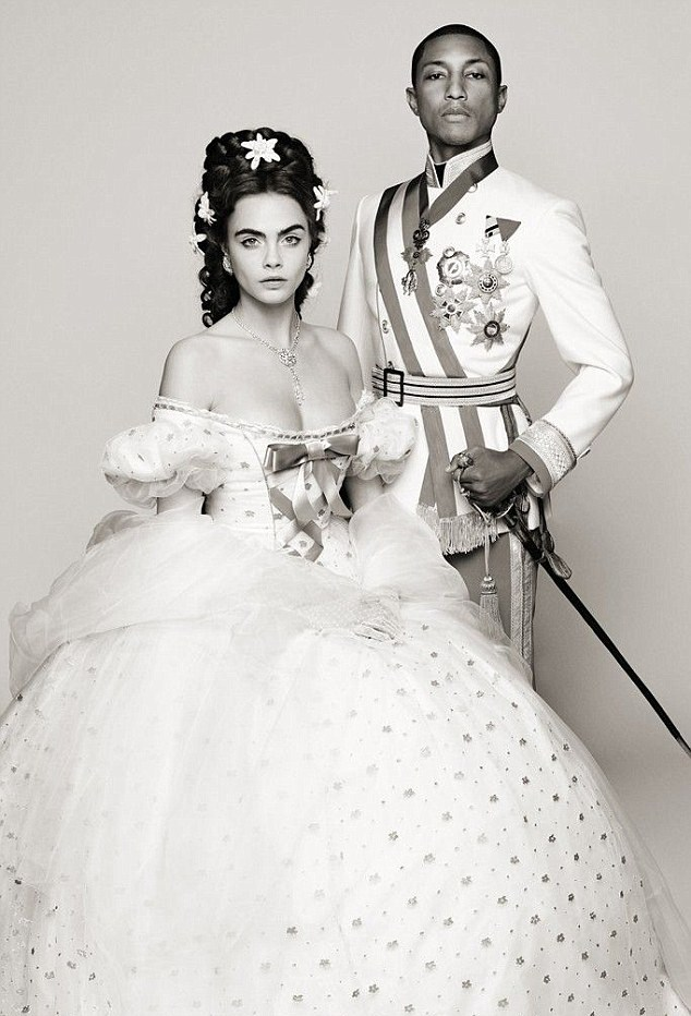 Cara and Pharrell for Chanel