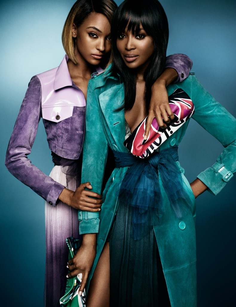 Naomi and Jourdan for Burberry Image 2