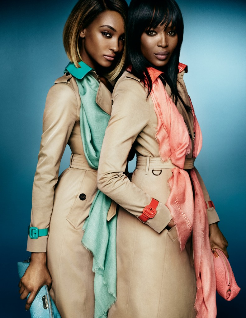 Naomi and Jourdan for Burberry Image 3