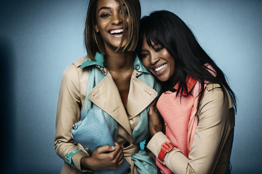 Naomi and Jourdan for Burberry