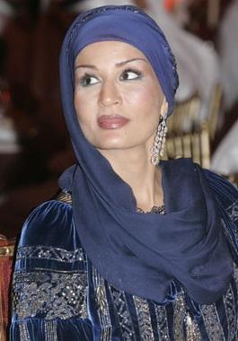 Sheikha Mozah - Navy Blue Headscalf