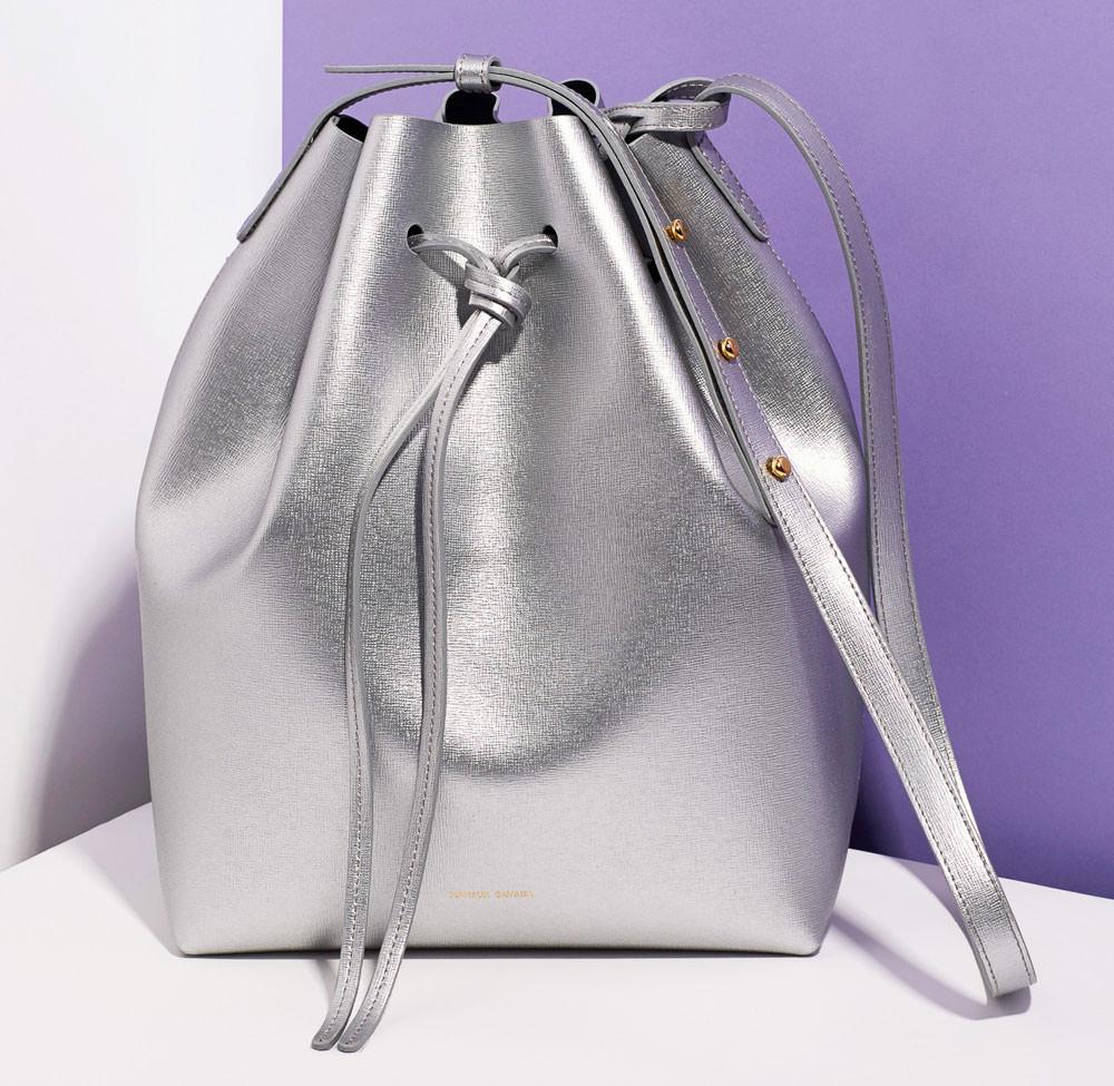 Mansur Gavriel Metallic Bucket Bag - Statement Bag