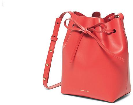 Mansur Gavriel Red Bucket Bag - Statement Bag