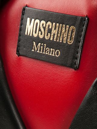 Moschino Biker Backpack Red Lining - Statement Bag