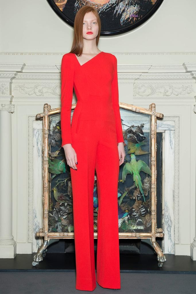 Roland Mouret Red Jumpsuit - Pre-Fall 2015