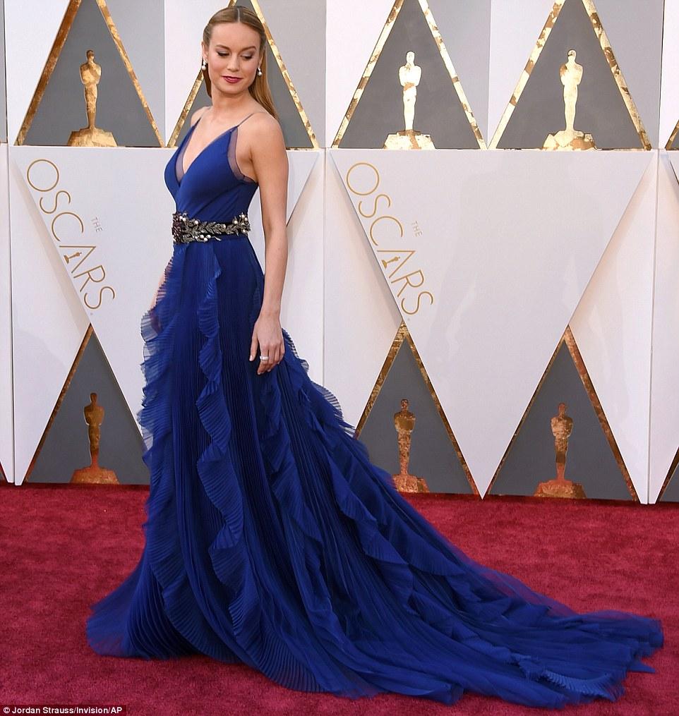 Brie Larson - in Gucci - Oscars 2016
