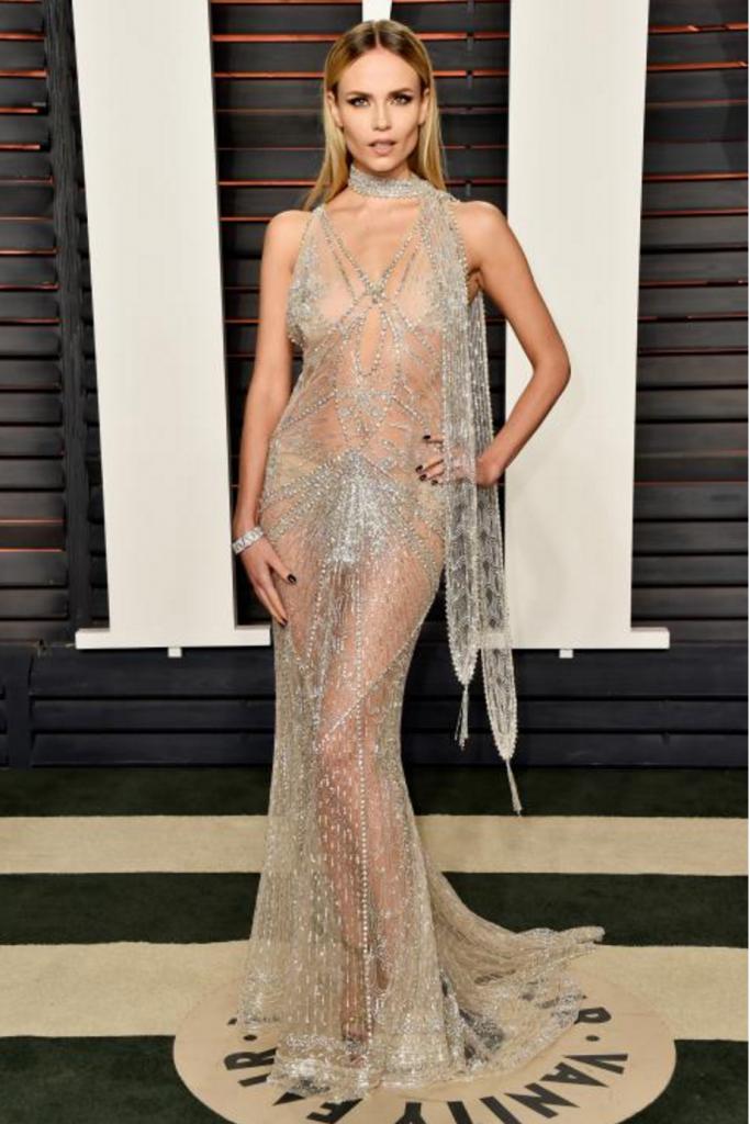Natasha Poly - in Roberto Cavalli - Vanity Fair Oscars Party 2016