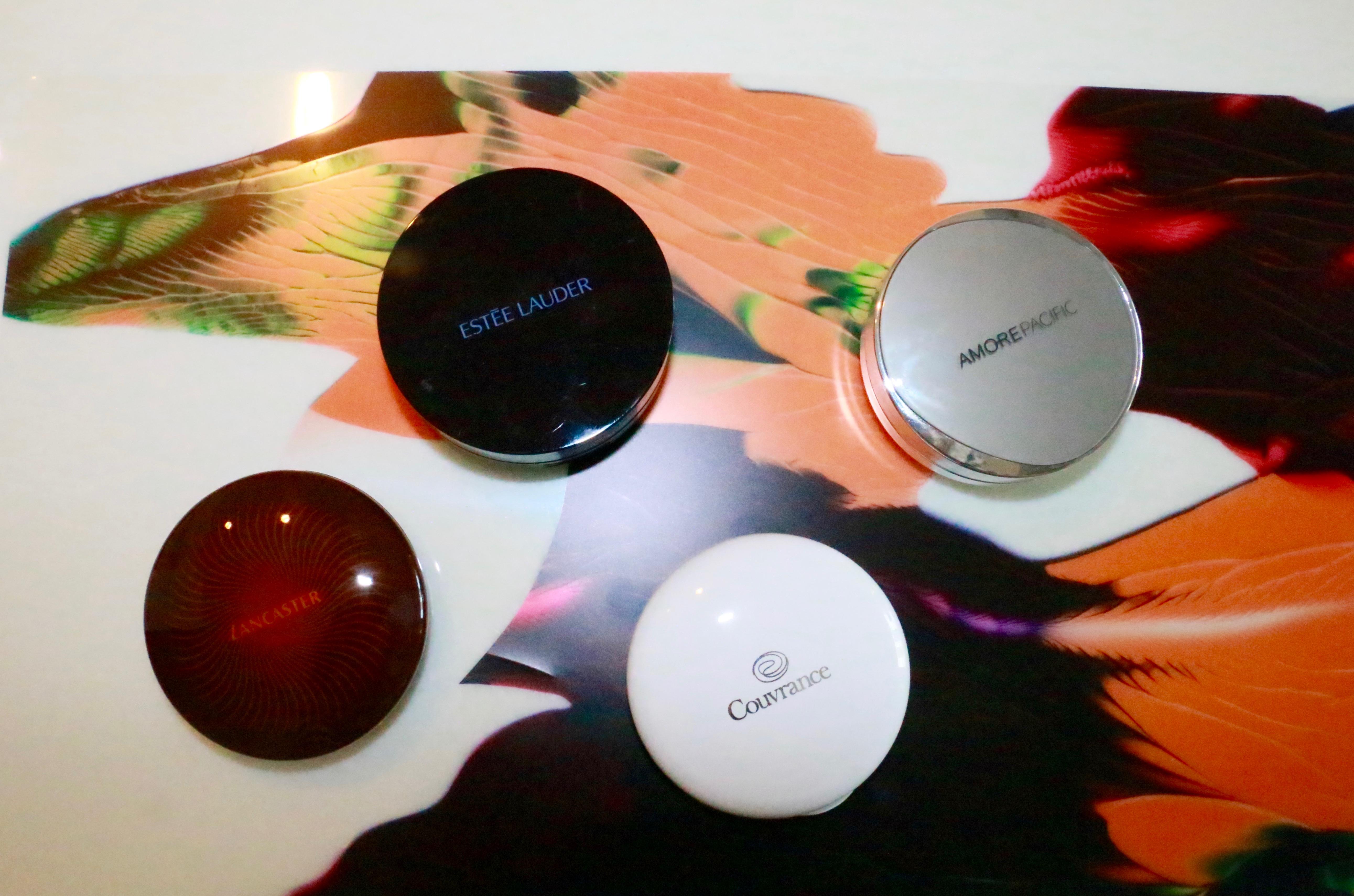 Estee Lauder Double Wear MakeUp to Go , Amore Pacific Color Control Cushion Compact , Avene Compact Foundation Creams , Lancaster 365 Sun Compact