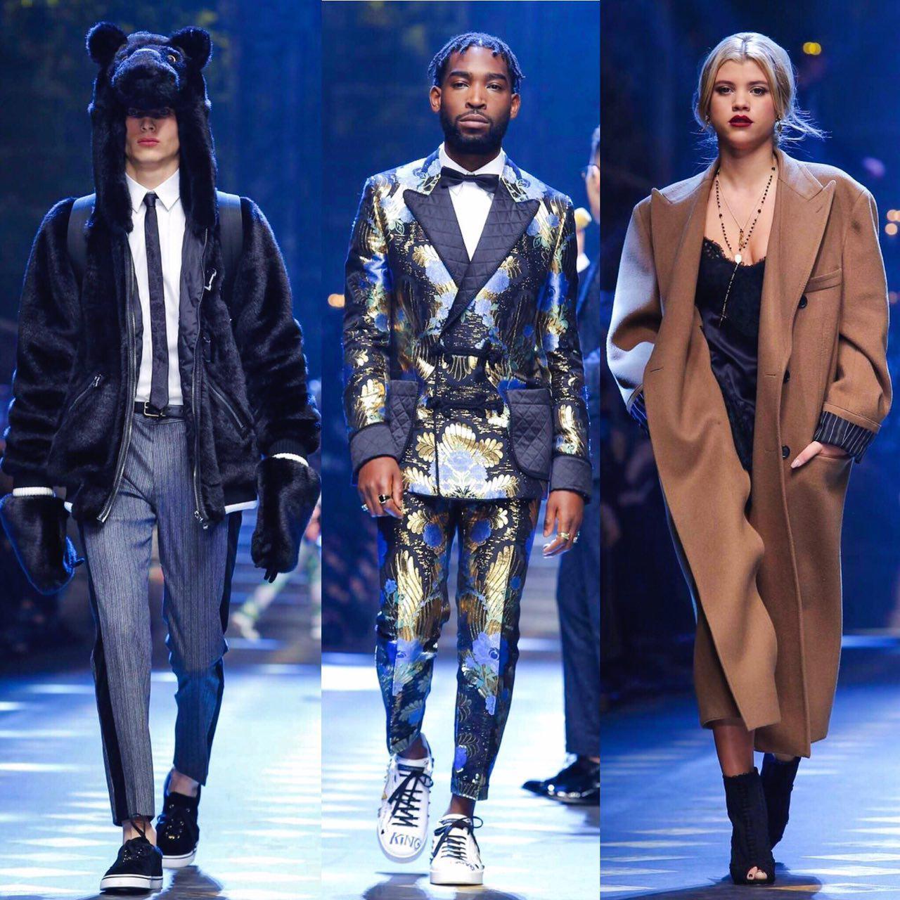 Tinie Tempah, Sofia Richie & Teddy Bears - Dolce & Gabbana Fall Winter 2017 - Milan
