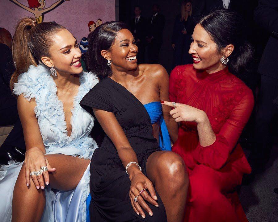 Jessica Alba, Gabrielle Union and Olivia Munn - Vanity Fair Oscars Party 2017