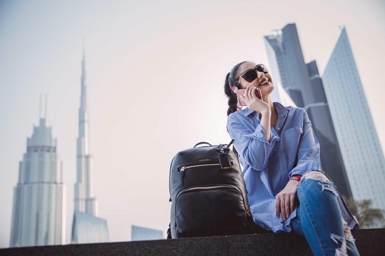 Tamara Al Gabbani & Tumi Voyageur Backpack